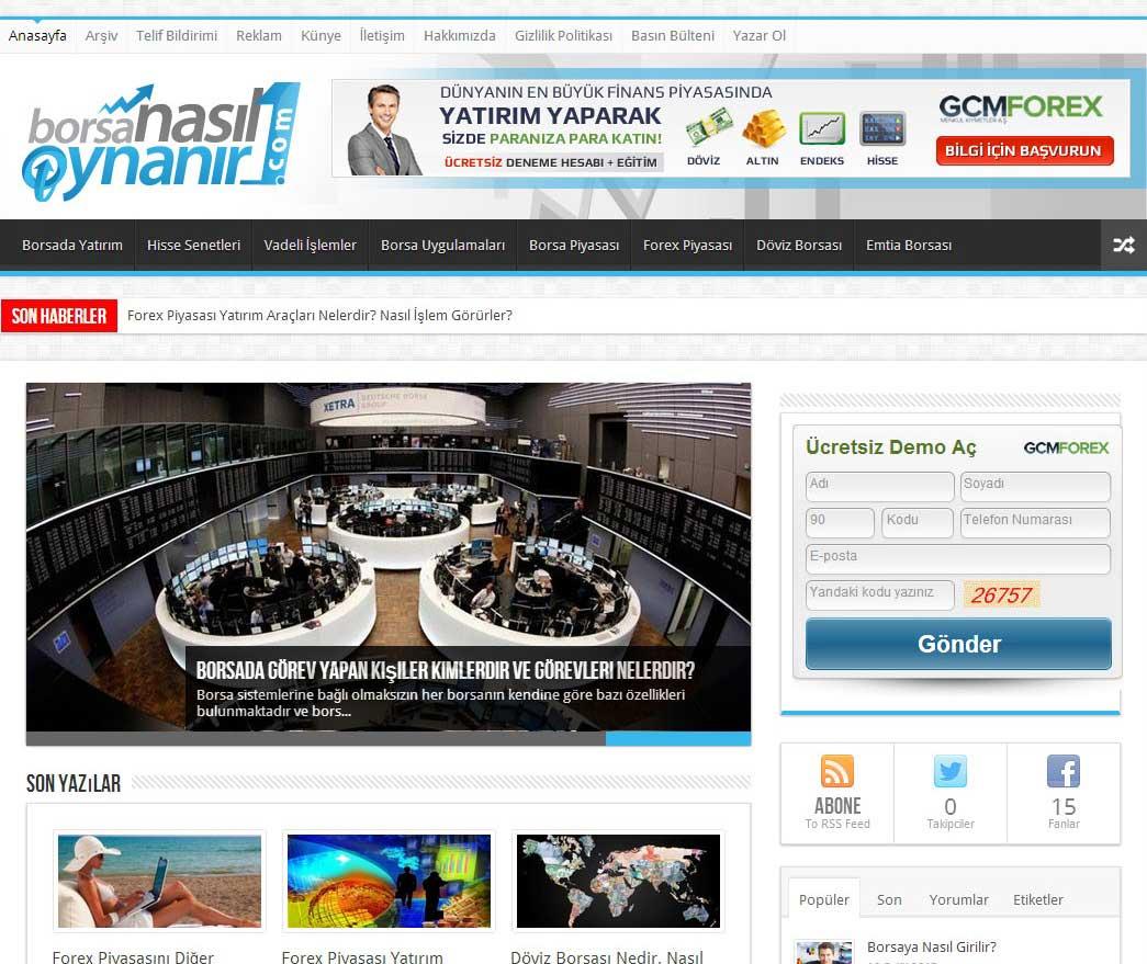 Borsanasıloynanır1'in Ana Sayfasının Tüm Tarayıcılar Üzerindeki Görüntüsü