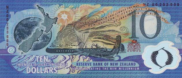 Yeni Zelanda doları (NZD - NZ$)