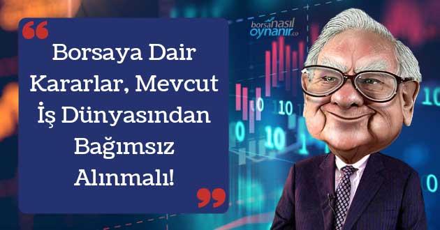 Borsaya Dair Kararlar Mevcut İş Dünyasından Bağımsız Alınmalı!