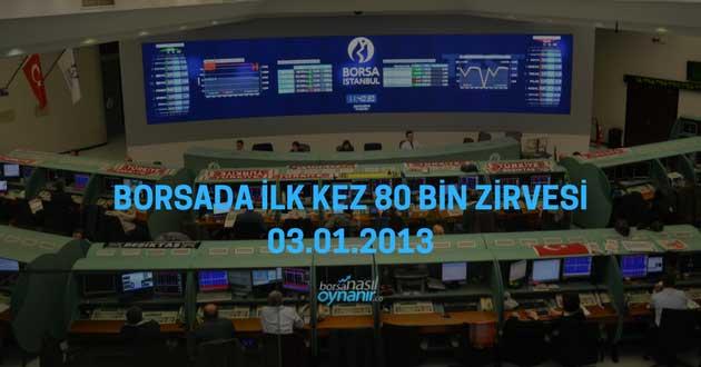 Borsada İlk Kez 80 Bin Zirvesi – 03.01.2013
