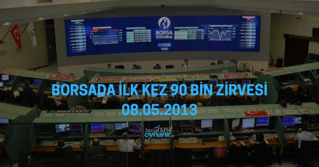 Borsada İlk Kez 90 Bin Zirvesi – 08.05.2013
