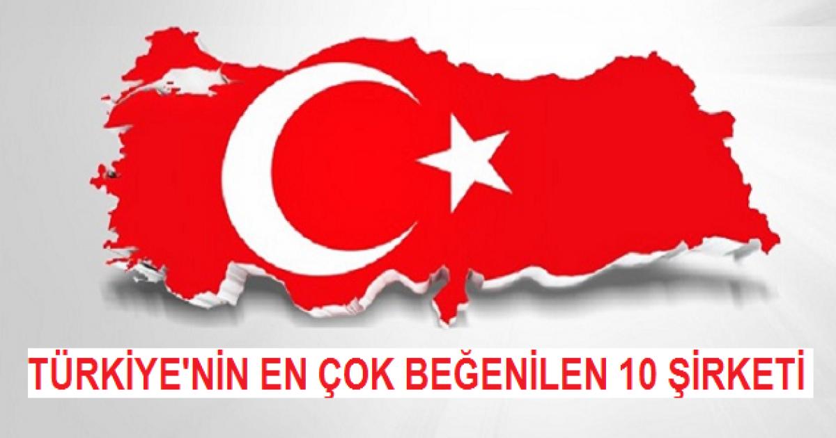 Türkiye'nin En Çok Beğenilen 10 Şirketi