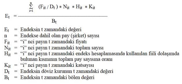 BIST 100 Endeks Hesaplama Formülü