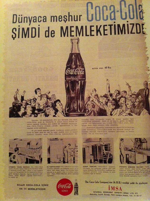 Coca Cola'nın Türkiye'deki İlk Sloganı