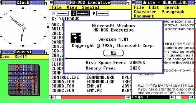 Windows 1.0 Görünümü