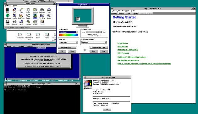 Windows NT 3.5 Görünümü