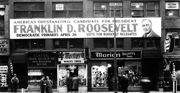 Franklin D. Roosevelt'in Başa Geçmesi