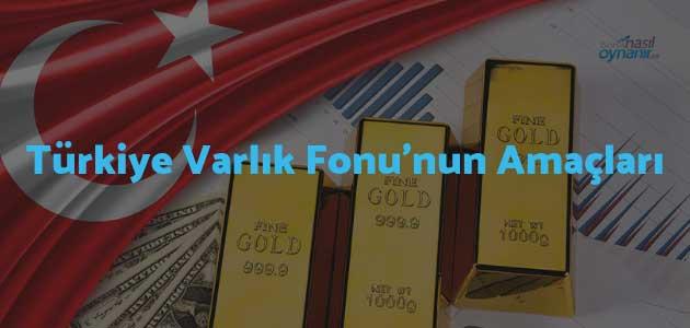 Türkiye Varlık Fonu'nun Amaçları
