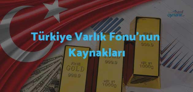 Türkiye Varlık Fonu'nun Kaynakları