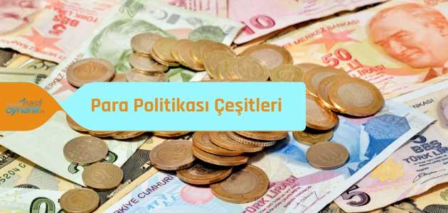 Uygulanma Şekline Göre Para Politikası Çeşitleri