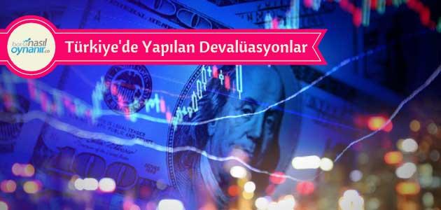 Türkiye Tarihinde Yapılan Devalüasyonlar