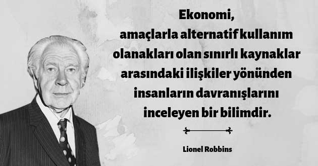 Lionel Robbins'in Tanımı