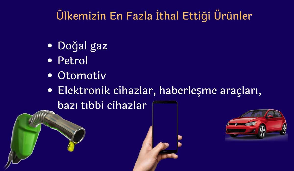 Türkiye'nin En Fazla İthal Ettiği Ürünler